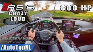 Download 780HP AUDI RS6 Elmerhaus | LED STEERING WHEEL & INSANE EXHAUST | POV Test Drive by AutoTopNL Video