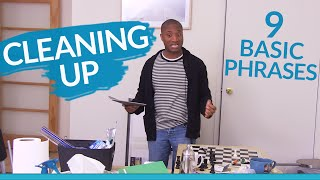 Download Learn English: 9 basic phrases for CLEANING UP Video