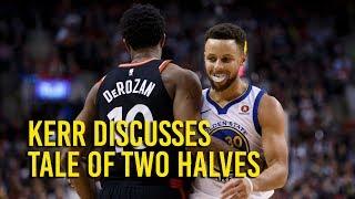 Download Kerr details tale of two halves against Raptors Video