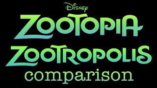 Download Disney's Zootopia and Zootropolis Comparison Video
