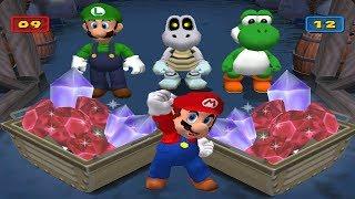 Download Mario Party 7 Mini Games - Mario Vs Luigi Vs Yoshi Vs Dry Bones (Master CPU) Video