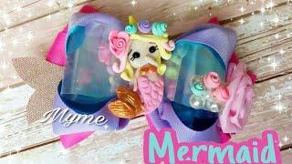 Download Mermaid bow -Канзаши-moño con acetato , porcelana fria Video