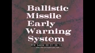 Download BALLISTIC MISSILE EARLY WARNING SYSTEM ATOMIC BOMB CIVIL DEFENSE 54404 Video