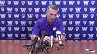 Download Chris Petersen talks about College Football Playoff Video