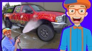 Download Blippi Car Wash | Truck Videos for Children Video