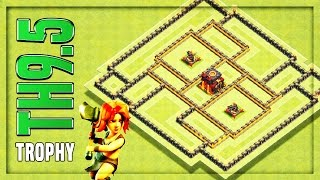 Download TH9.5 TROPHY Base   Anti 2 Star War Base #3 🔸 Clash of Clans Video