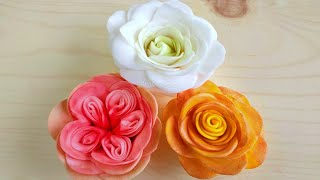Download 3 Easy & Beautiful sugar roses with the ″Easiest Rose Cutter Ever″ - sugar flowers for beginners Video