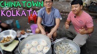 Download WONTON NOODLES! Indian Chinese Street Food in CHINATOWN Kolkata India Video
