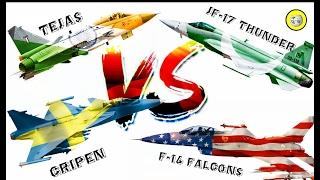 Download JF-17 Vs Hal Tejas Vs Gripen-E ( Light Combat Aircraft Comparison - 2017 ) Video
