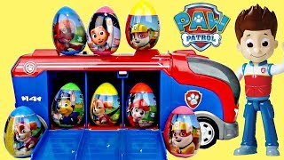 Download Nick PAW PATROL CRUISER Toy Egg Surprises, Skye Chase Ryder Mission Pups Best Learn Colors / TUYC Video