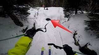Download Skiing through pipe gone wrong! Video
