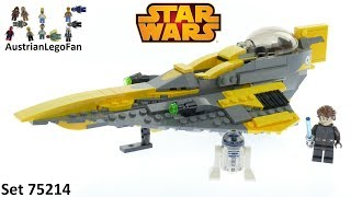 Download Lego Star Wars 75214 Anakin´s Jedi Starfighter - Lego Speed Build Review Video