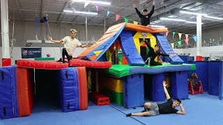 Download WE MADE A GIANT GYMNASTICS FORT MANSION! (INSANE) Video