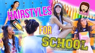 Download 5 Quick & Easy Hairstyles for School! Video