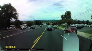 Download Van Uses Shared Turn Lane to Overtake Video