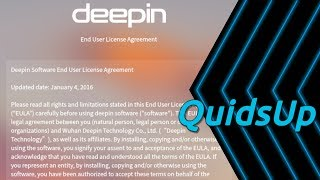 Download Looking at Linux Deepin EULA from v15.8 Video