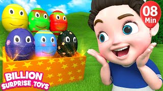 Download Nursery rhymes for babies | 3D Nursery Songs Compilation from Billion Surprise Toys Video