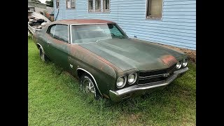 Download 1970 Chevelle SS454 Found Parked Beside A House Over 30 Years In Oklahoma!!! Video