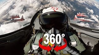 Download 360° cockpit view | Fighter Jet | Patrouille Suisse | Virtual Reality Video