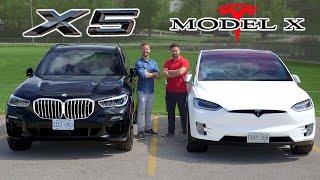 Download 2019 BMW X5 50i vs Tesla Model X // Battle Of The X's Video