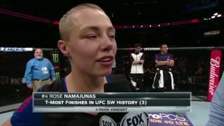 Download Fight Night Kansas City: Rose Namajunas Octagon Interview Video