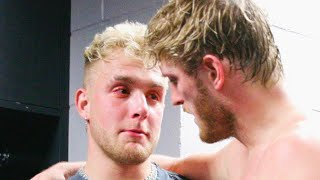 Download Jake Paul CRIES backstage AFTER Logan Paul Loses to KSI Video