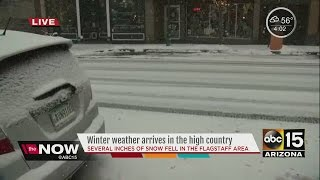 Download Winter weather continues to bring snow to the high country Video