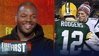 Download Martellus Bennett on who is the best QB between Aaron Rodgers and Tom Brady | FIRST THINGS FIRST Video