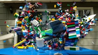 Download Lego Plane Crash in Slow Motion - The Slow Mo Guys Video