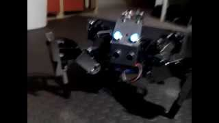 Download Quadruped Robot with Laser Beam Video