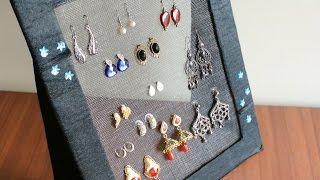 Download DIY Jewelry organizer - Earring holder Video