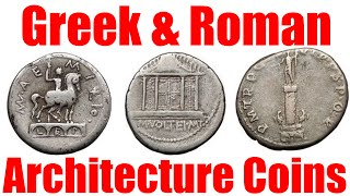Download Ancient Roman and Greek ARCHITECTURAL Coins with Temples City Gates Columns and More Video