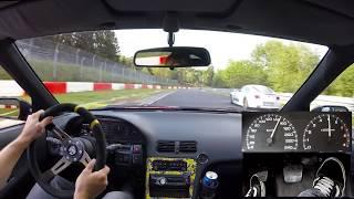 Download Nissan 200SX CA18DET S13 Nürburgring Nordschleife onboard footcam 21.08.2017 日産 ニュルブルク 4K Video