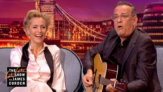 Download Gillian Anderson & Tom Hanks Face their Fears - #LateLateLondon Video