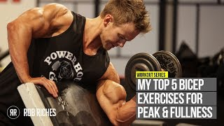Download TOP 5 Bicep Peak Exercises | Rob Riches Video
