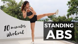 Download 10 Minute Standing Abs Workout: BURN BELLY FAT FOR SMALL WAIST | No Mat Required Video
