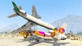 Download Pilot Got Attacked By Passenger Causing Emergency Landing | GTA 5 Video