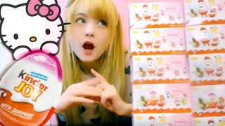 Download Unbox & Eating 15 Hello Kitty Chocolate Surpsise Eggs Video