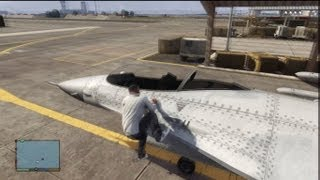 Download GTA V: How To Steal A Fighter Jet From Military Base (No Guns Needed) Video