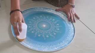 Download Rangoli design making with stencil - part 2 Video