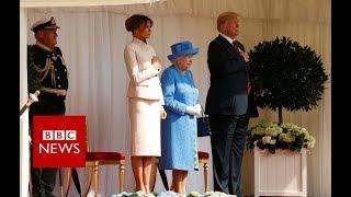Download President Donald Trump arrive at Windsor- BBC News Video