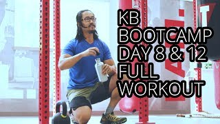 Download BOOTCAMP KB Home Workout Day 8 Lunges Pullups Pushups Video