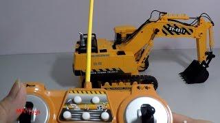 Download Mở hộp đồ chơi xe máy xúc điều khiển từ xa xoay 660 ° Remote Control Vehicle MN Toys Video