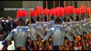 Download New Swiss Guards take an oath to protect the Pope Video