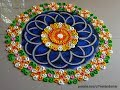 Beautiful and unique rangoli design | Innovative rangoli designs by Poonam Borkar
