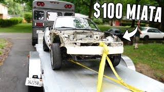 Download I Bought a $100 Miata for Drift Truck Parts! Video