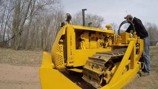 Download Caterpillar D2 Pulling Old Tree Stumps Video