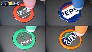 Download Beverage Logos Pancake art - Coca Cola, Pepsi, Monster, Fanta Video