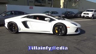Download LEO SANTA CRUZ DIPS OUT IN MAYWEATHER'S LAMBO ON MURDERED OUT RIMS Video