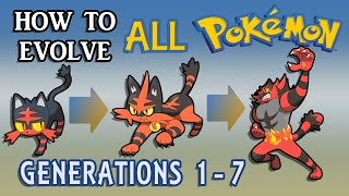 Download How To Evolve All Pokémon All Generations 1-7 Video